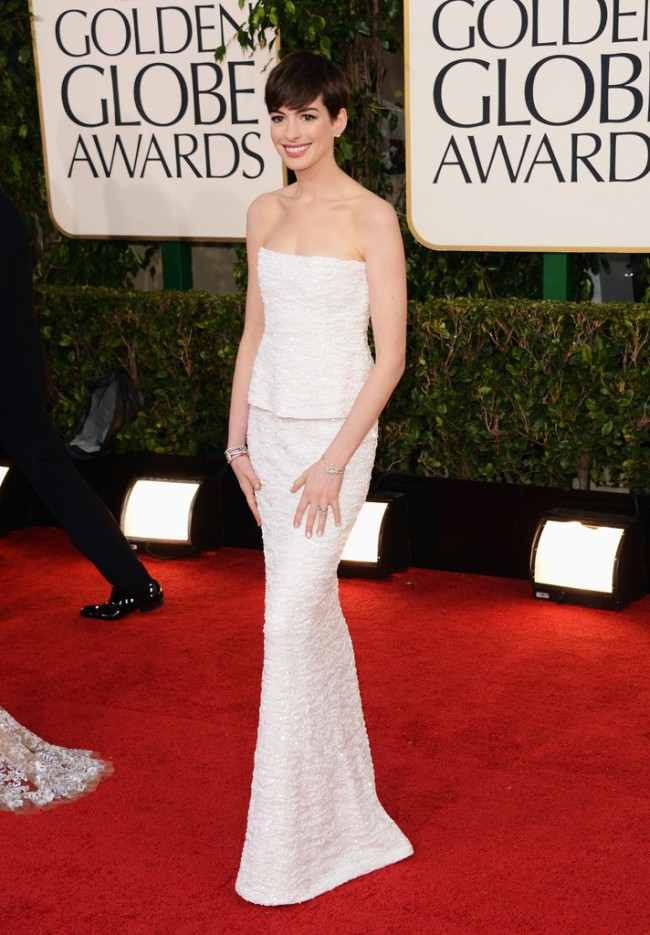 Anne Hathaway in Chanel, Megan Fox in Dolce & Gabbana, Amanda Seyfried in Givenchy and More Stars at the 70th Annual Golden Globe Awards