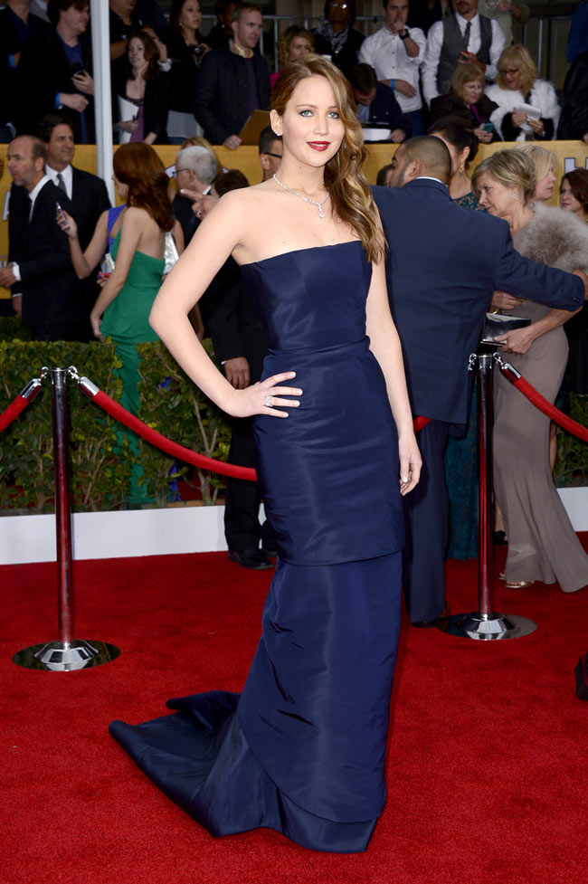 Jennifer Lawrence in Dior Haute Couture at the 19th Annual Screen Actors Guild Awards