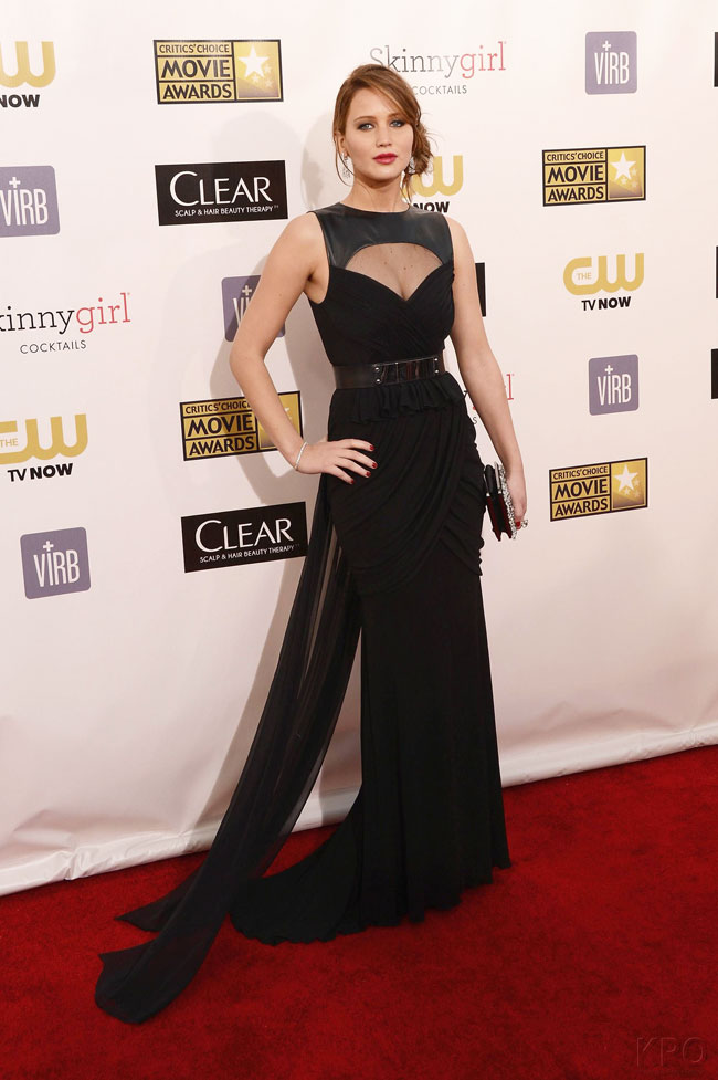 Jennifer Lawrence in Prabal Gurung at the 18th Annual Critics' Choice Awards