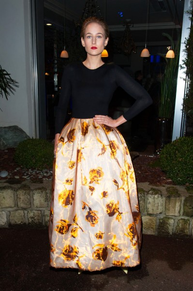 Leelee Sobieski in Dior at the Sidaction Gala Dinner
