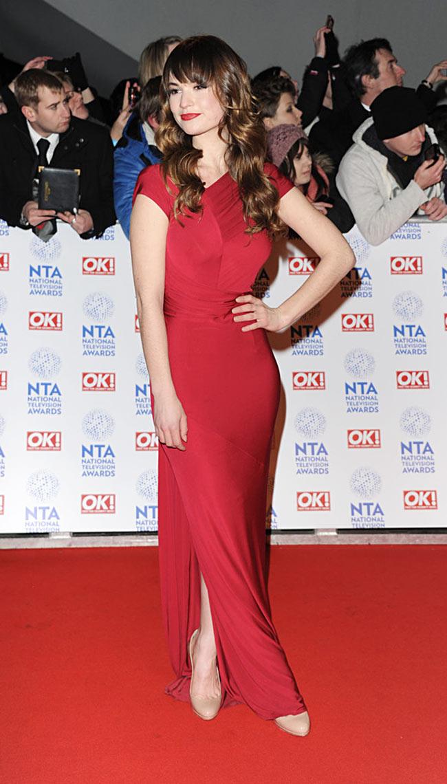 Lily James in Donna Karan at Britain's National Television Awards