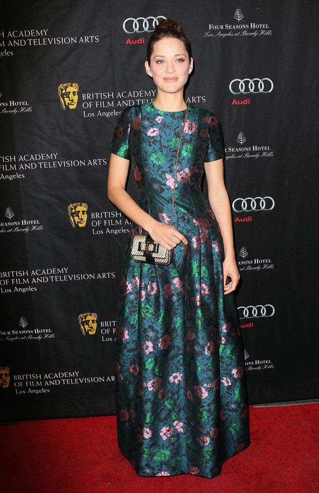 Marion Cotillard in Erdem at 2013 BAFTA Awards Season Tea Party
