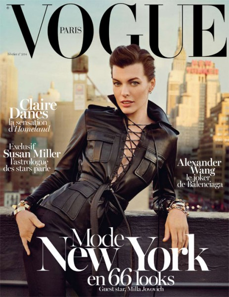 Milla Jovovich Sports Saint Laurent for Vogue Paris' February 2013 Cover