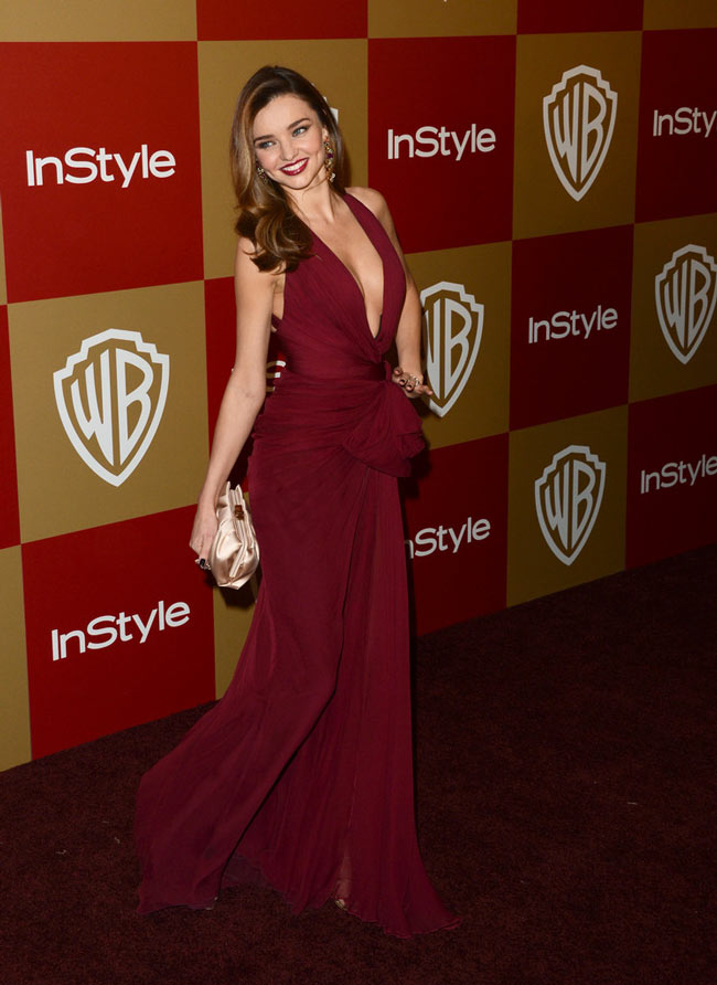 Miranda Kerr in Zuhair Murad at the Warner Bros. and InStyle Golden Globes After Party