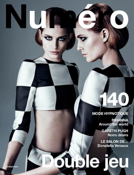 A Louis Vuitton Clad Nadja Bender Covers Numéro February 2013