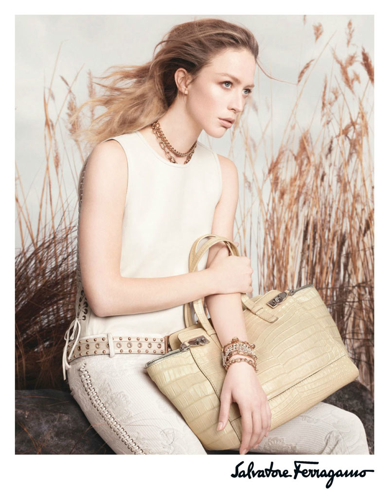 Raquel Zimmermann Poses for Salvatore Ferragamo's Spring 2013 Campaign by David Sims