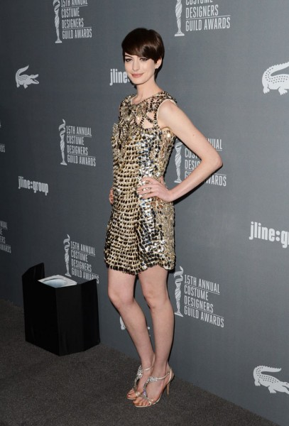 Anne Hathaway in Gucci at the 15th Annual Costume Designers Guild Awards