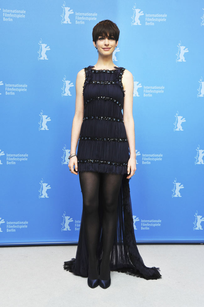 Anne Hathaway in Chanel Haute Couture at the 63rd Berlinale International Film Festival