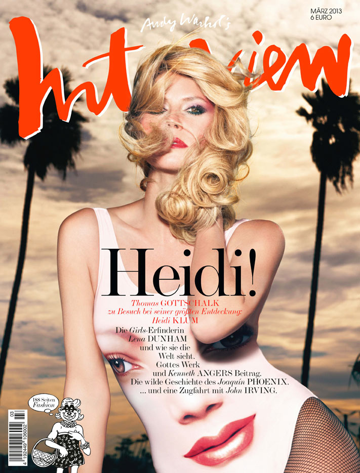 Heidi Klum Seduces on the March 2013 Cover of Interview Germany
