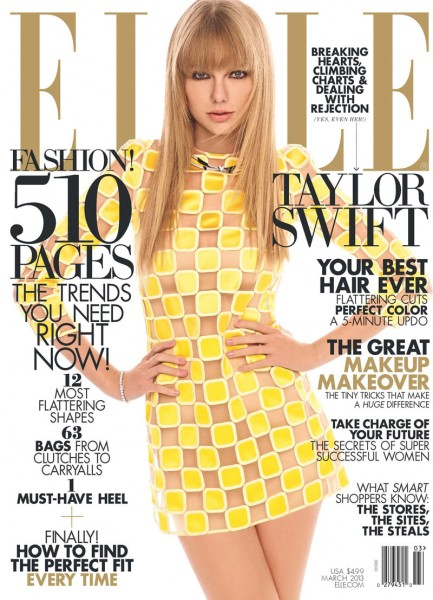 Taylor Swift Covers Elle US' March 2013 Issue in Louis Vuitton