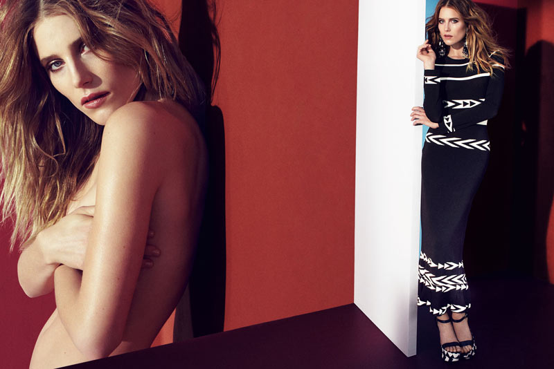 Dree Hemingway Strips for Ermanno Scervino Spring 2013 Campaign