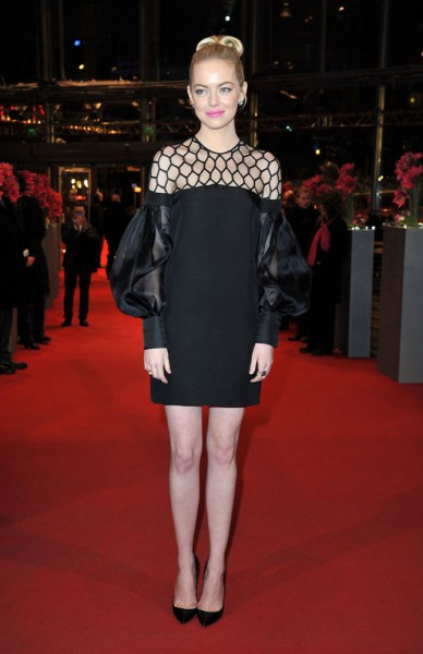 "Emma Stone in Gucci at ""The Croods"" Premiere at the 63rd Berlinale Film Festival"