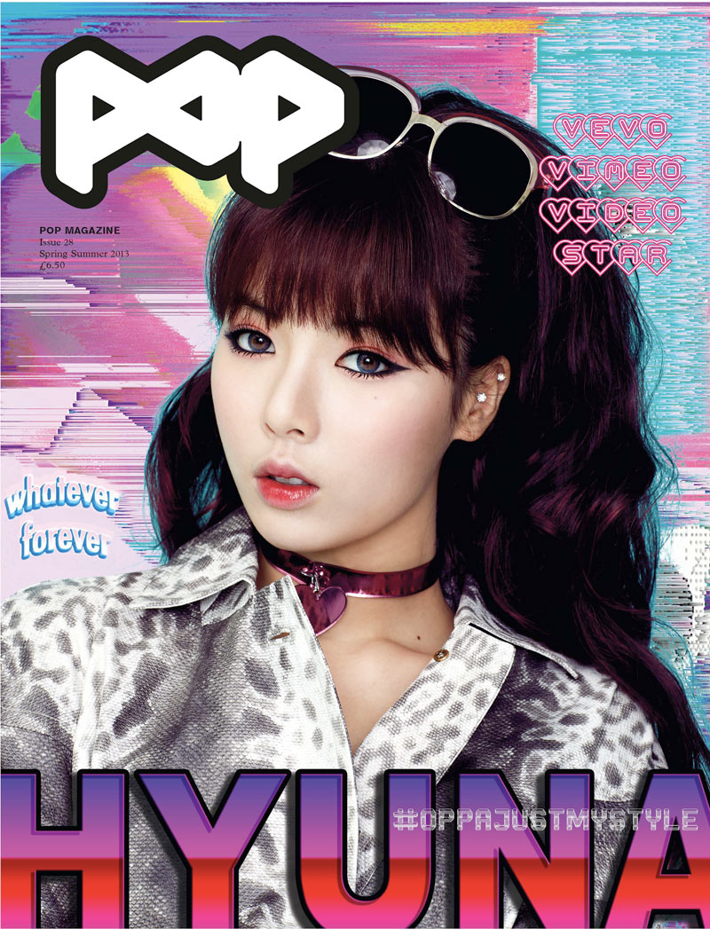 POP Features Moffy and Hyuna on its Spring/Summer 2013 Covers