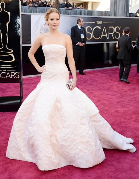 Jennifer Lawrence in Dior Haute Couture at the 85th Annual Academy Awards