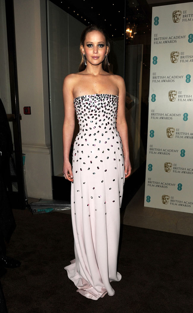 Jennifer Lawrence in Dior Haute Couture at the 2013 BAFTA ...