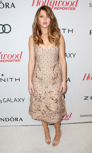 Jennifer Lawrence in Valentino at The Hollywood Reporter Nominees' Night 2013
