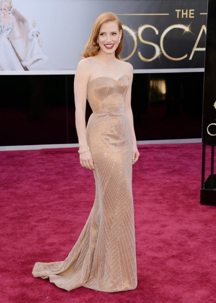 Jessica Chastain in Armani Prive at the 85th Annual Academy Awards
