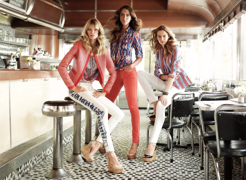 Julia Stegner, Elise Crombez and Noemie Lenoir Star in Jones New York Spring 2013 Campaign