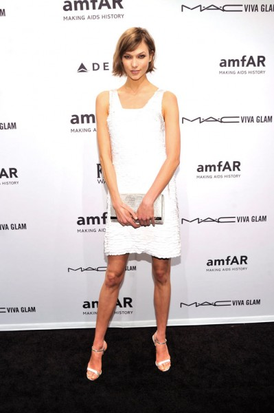 Karlie Kloss in Michael Kors at the amfAR New York Gala