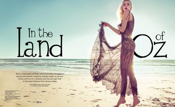Hannah Wears Aussie Style for Foam Magazine's March/April Issue