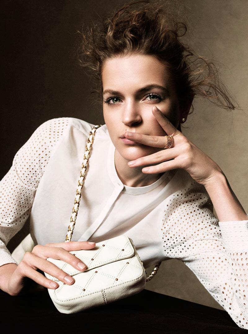 Magdalena Langrova Poses for Victor Demarchelier in Harper's Bazaar UK March 2013