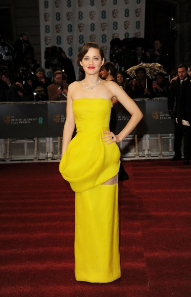 Marion Cotillard in Dior Haute Couture at the 2013 BAFTA Awards