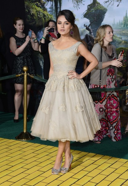 "Mila Kunis in Dolce & Gabbana at ""Oz The Great and Powerful"" LA Premiere"