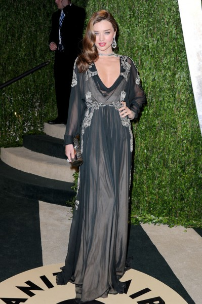 Miranda Kerr in Valentino Haute Couture at the 2013 Vanity Fair Oscar Party