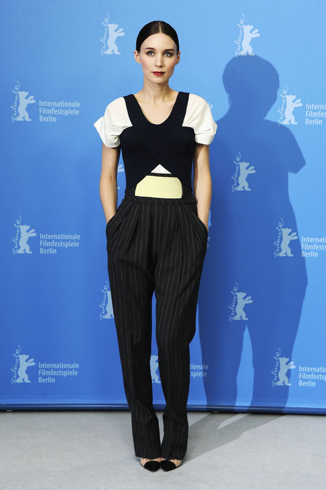 """Rooney Mara in Balenciaga at the """"Side Effects"""" Berlin Photocall"""