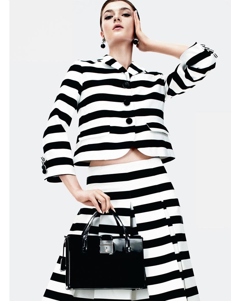 Zen Sevastyanova Gets Mod for Harper's Bazaar UK March 2013 by Catherine Servel