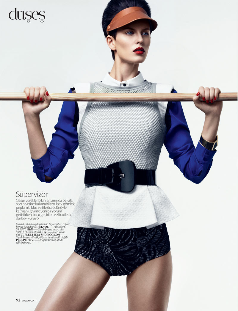 Ellinore Erichsen Gets Sporty for the February Issue of Vogue Turkey