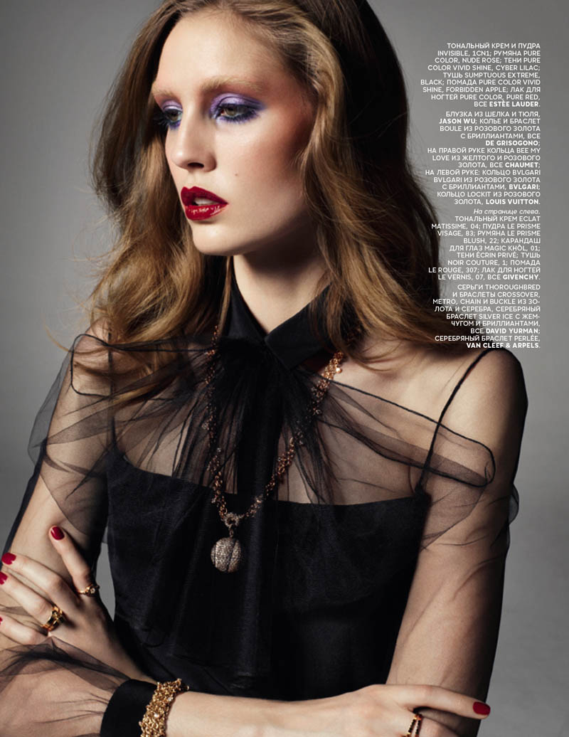 Nadja Bender Poses for Richard Bush in Vogue Russia March 2013