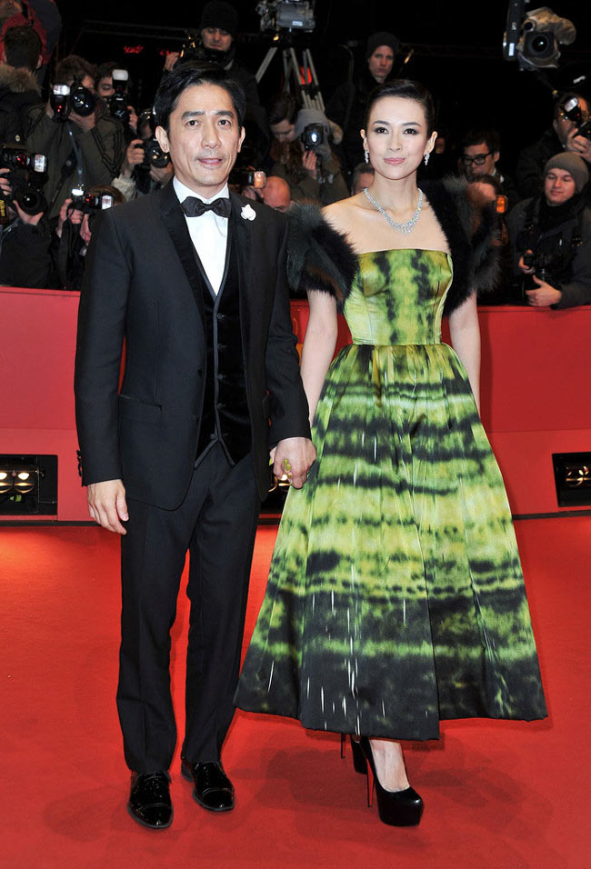 """Zhang Ziyi in Dior Haute Couture at """"The Grandmaster"""" Berlin Premiere"""