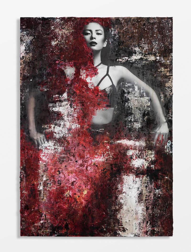 Zhang Ziyi Gets Painted for Flaunt Magazine by Hunter & Gatti