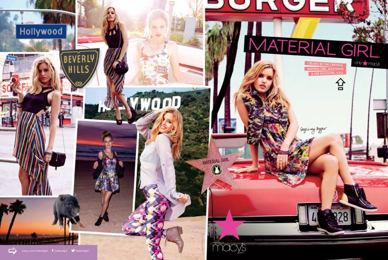 Georgia May Jagger Heads to Hollywood for Material Girl Spring 2013 Campaign