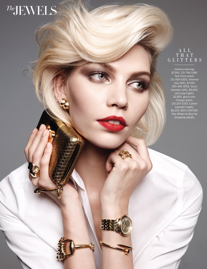 Aline Weber Shines for Amy Troost in Harper's Bazaar US March 2013