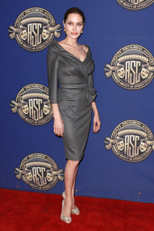 Angelina Jolie in Atelier Versace at the 27th American Society of Cinematographers Awards