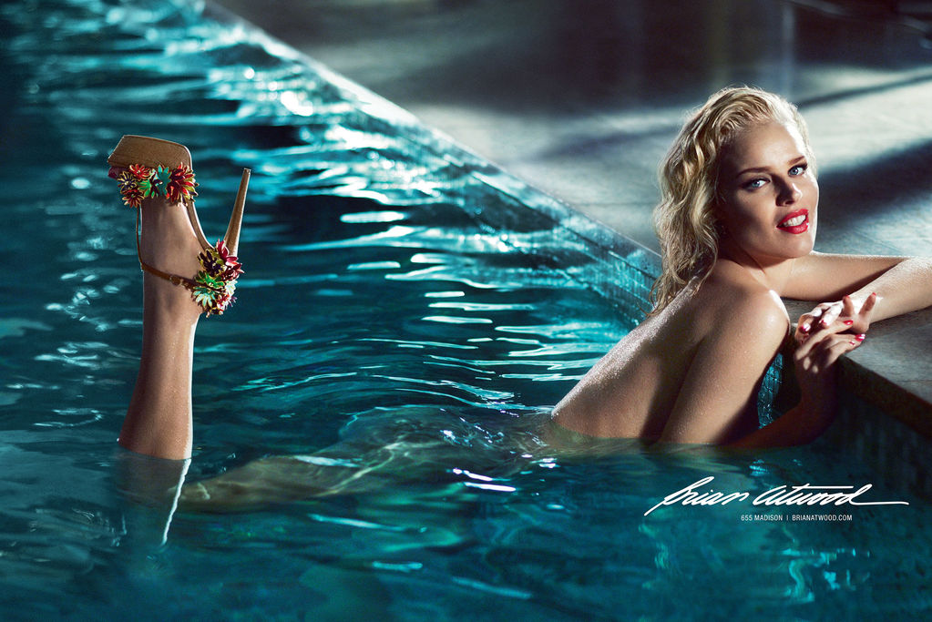 Eva Herzigova Gets Naked for Brian Atwood Spring 2013 Campaign by Mert & Marcus