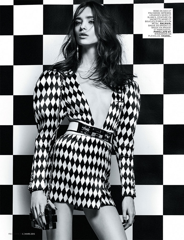 Carolina Thaler Sports Contrasting Style for L'Officiel Paris March 2013 by Thanassis Krikis