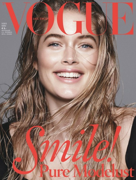 Doutzen Kroes, Saskia de Brauw and Kati Nescher Are All Smiles for Vogue Germany's March 2013 Covers