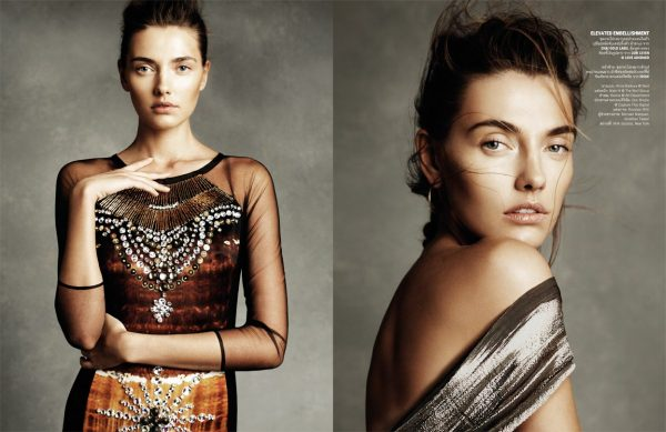Alina Baikova Shines in Vogue Thailand's February Issue by Simon Cave