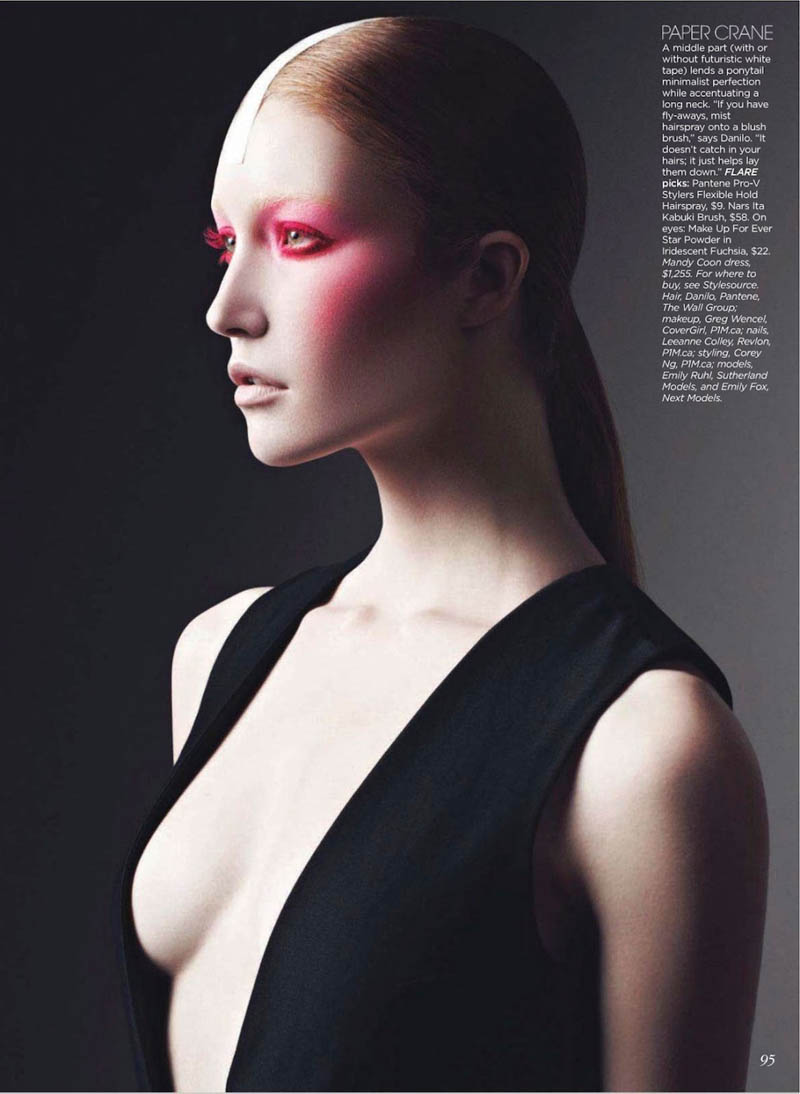 Emily Ruhl and Emily Fox Model Japanese-Inspired Beauty for Flare's March Issue