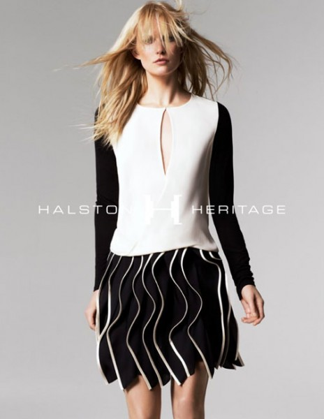 Hartje Andresen Stars in Halston Heritage Spring 2013 Campaign
