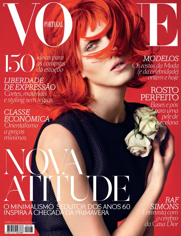 Iris Egbers Flaunts Red Hair for Vogue Portugal's March 2013 Cover