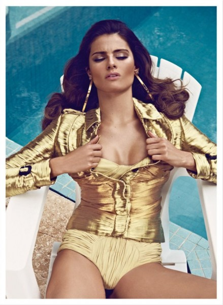 Isabeli Fontana is a Golden Girl for Vogue Latin America's March Cover Shoot by Koray Birand
