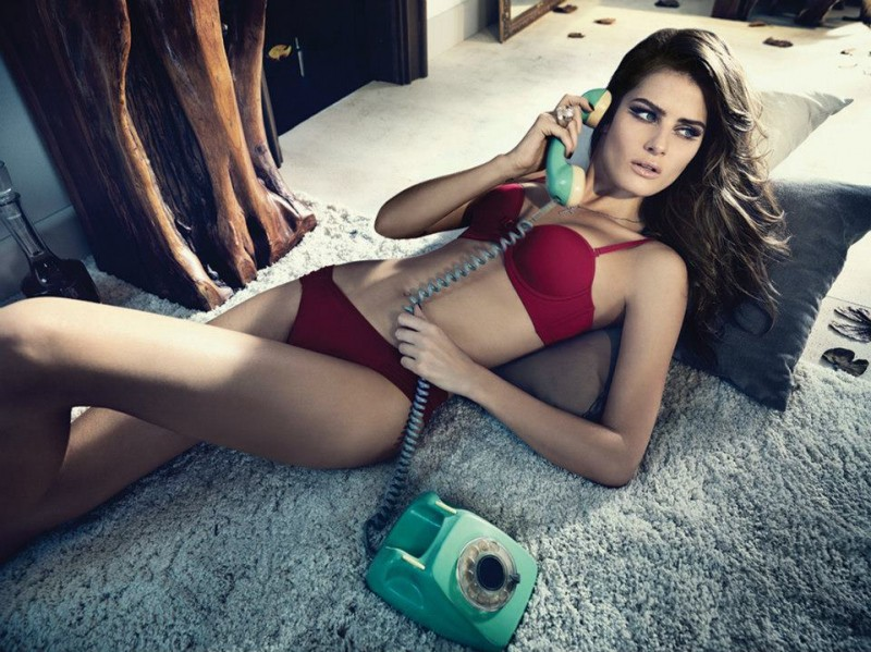 Isabeli Fontana Seduces for Un.i Lingerie Winter 2013 Campaign