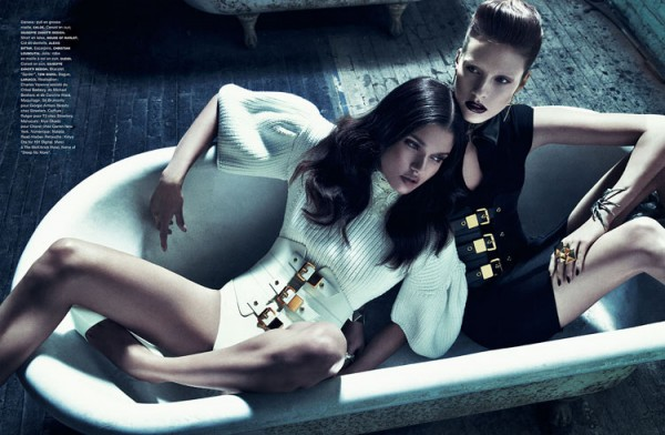 Julia Frauche and Daniela Braga Are 'Blood Sisters' for Numéro #140 by Sebastian Kim