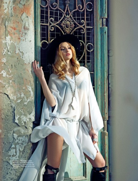 Simona Andrejic Dons Homegrown Fashion for Elle Serbia's March Issue