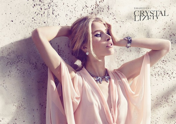 Annemara Post Stuns in Swarovski Crystallized Spring 2013 Campaign by Mario Schmolka