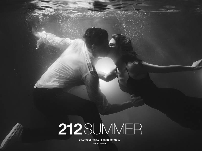 Sasha Luss and Lauren Auerbach Dive in for 212 Summer Carolina Herrera Campaign by Hunter & Gatti